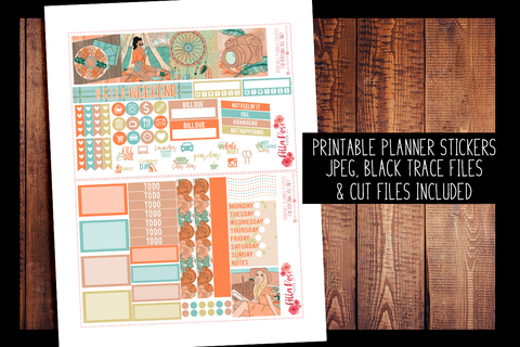 Adventure Awaits Mini Happy Planner Kit | PRINTABLE PLANNER STICKERS