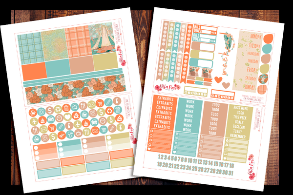Adventure Awaits Happy Planner Kit | PRINTABLE PLANNER STICKERS