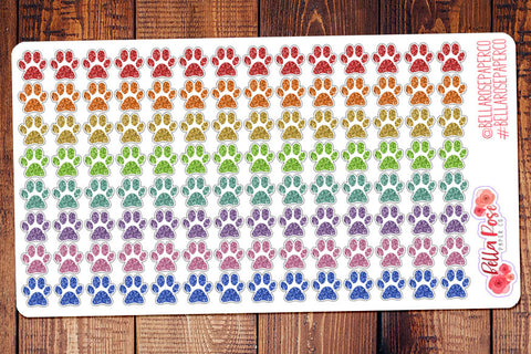 Glitter Paw Pet Planner Stickers
