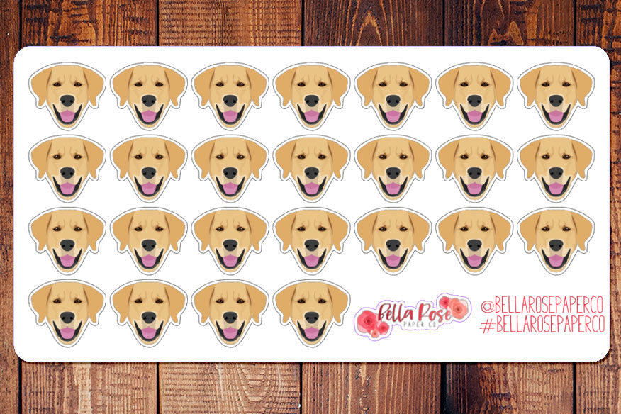 Golden Retriever/Lab Dog Planner Stickers