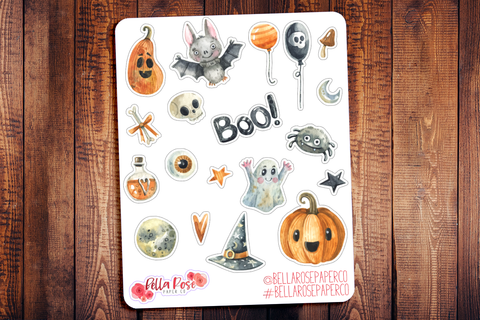 Halloween Deco Planner Stickers