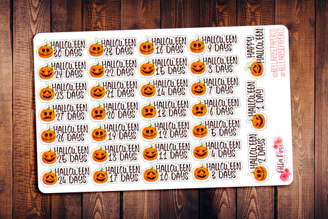 Halloween Countdown Planner Stickers F006