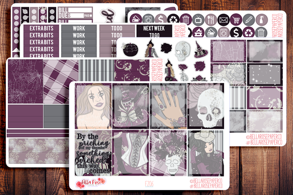 Something Wicked Planner Sticker Kit F206