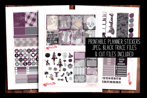 Something Wicked Planner Kit | PRINTABLE PLANNER STICKERS