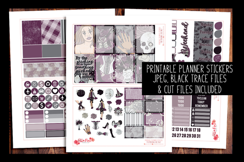 Something Wicked Happy Planner Kit | PRINTABLE PLANNER STICKERS