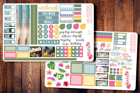 Hawaii Photo Hobonichi Weeks Sticker Kit SP403