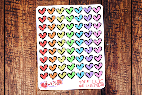 Heart Doodle Icon Hand Drawn Planner Stickers