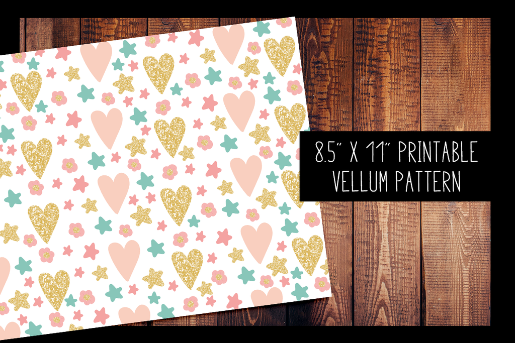 image relating to Printable Vellum known as Hearts and Superstars Vellum PRINTABLE VELLUM Practice