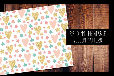 Hearts and Stars Vellum | PRINTABLE VELLUM PATTERN