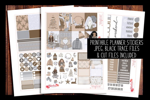 Home For The Holidays Happy Planner Kit | PRINTABLE PLANNER STICKERS