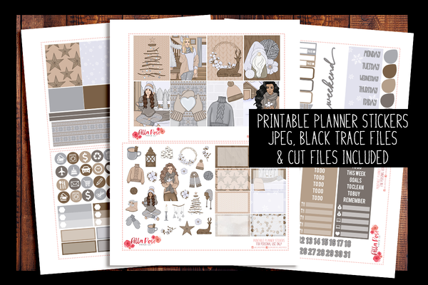 Home For The Holidays Planner Kit | PRINTABLE PLANNER STICKERS