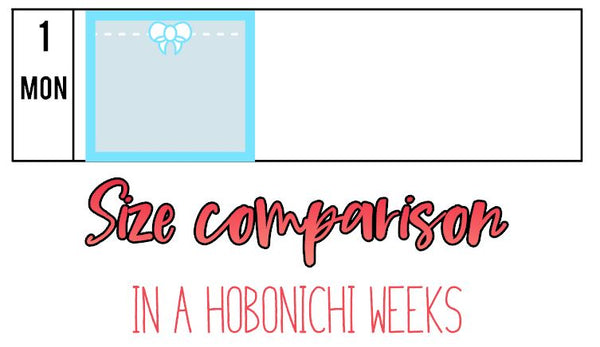 Hobonichi Weeks Bow Full Box Planner Stickers B097