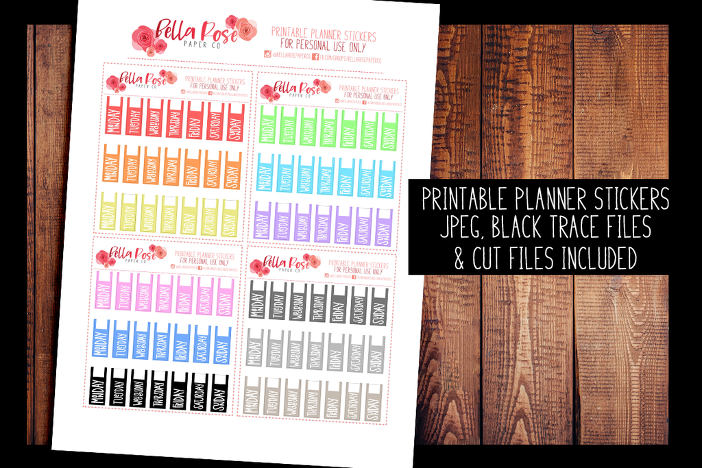 Hobonichi Weeks Written Date Cover Planner Stickers | PRINTABLE PLANNER STICKERS