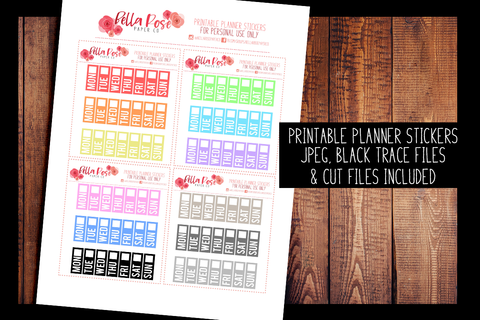 Hobonichi Weeks Date Cover Planner Stickers | PRINTABLE PLANNER STICKERS