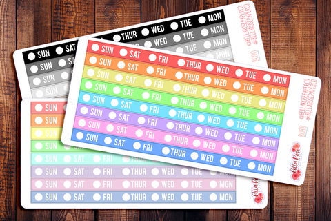 Hobonichi Weeks Date Cover Strips Planner Stickers B088/B089/B090