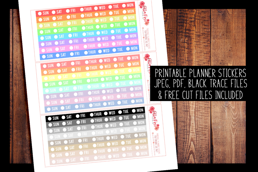 Hobonichi Weeks Date Cover Strips Planner Stickers | PRINTABLE PLANNER STICKERS