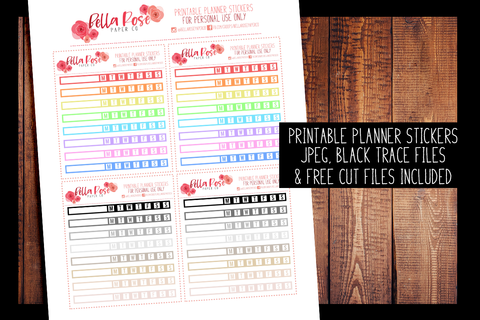 Hobonichi Weeks Habit Tracker Planner Stickers | PRINTABLE PLANNER STICKERS