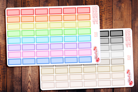 Hobonichi Weeks Half Box Planner Stickers B068/B069