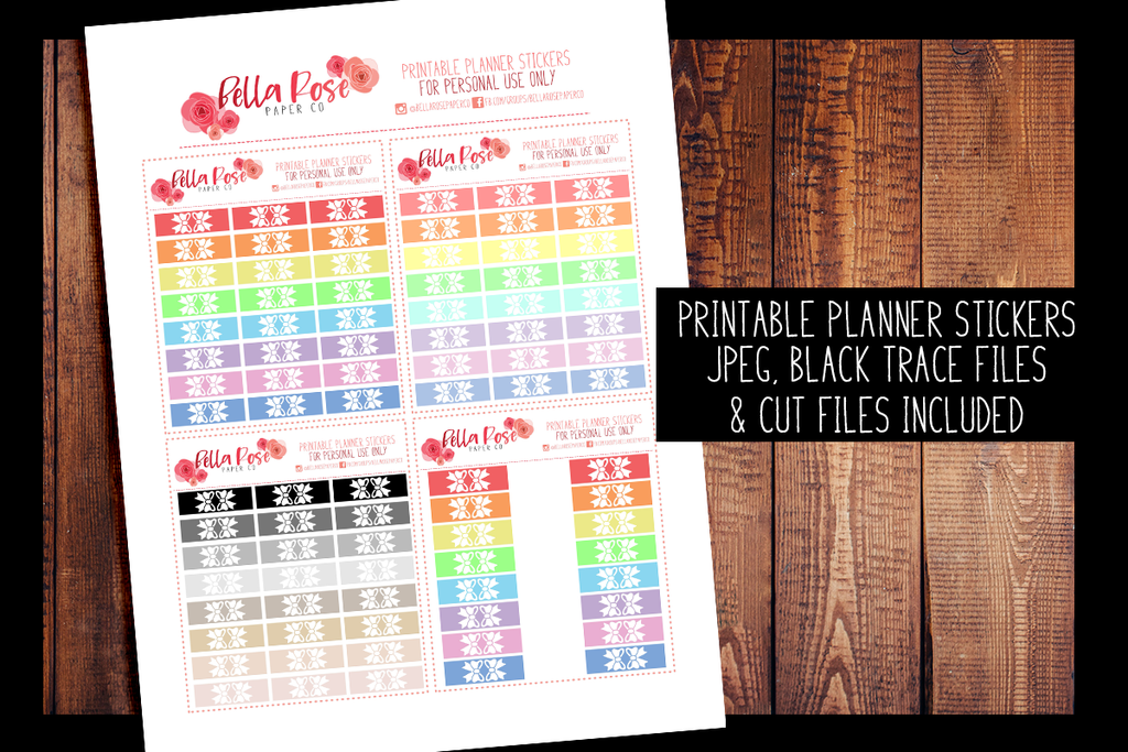 photo regarding Printable Tab Paper called Hobonichi Months Bow Tab Planner Stickers PRINTABLE PLANNER STICKERS