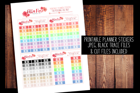 Hobonichi Weeks Bow Tab Planner Stickers | PRINTABLE PLANNER STICKERS