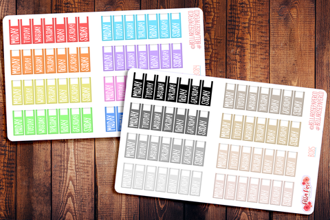 Hobonichi Weeks Written Date Covers Planner Stickers B084/B085