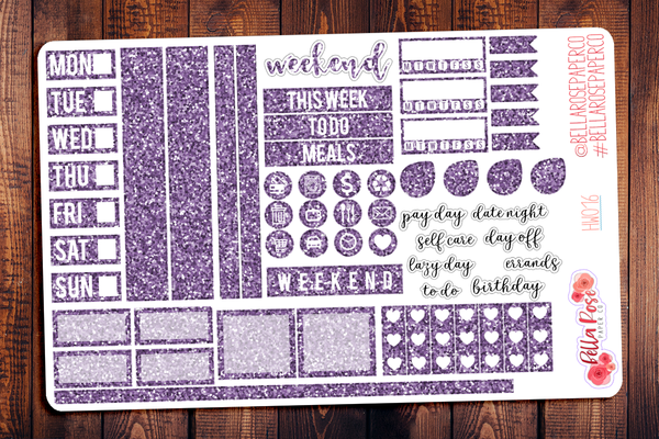 Hobonichi Weeks Glitter Sampler Kit Planner Stickers