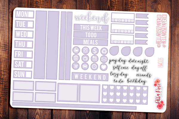Hobonichi Weeks Pastel Sampler Kit Planner Stickers