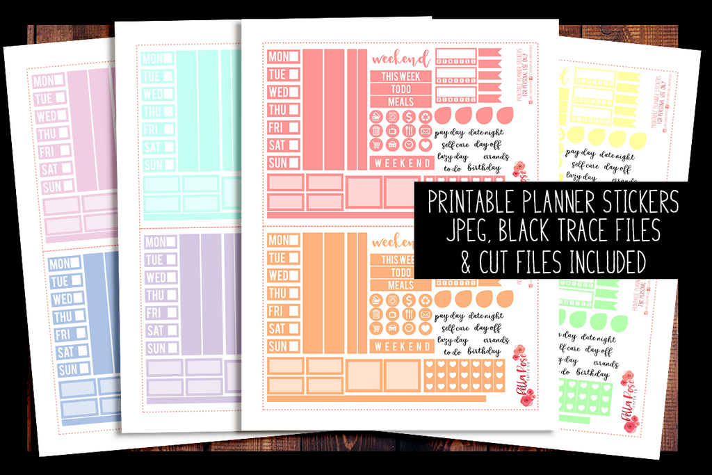 Hobonichi Weeks Pastel Rainbow Sampler Kit Planner Stickers | PRINTABLE PLANNER STICKERS