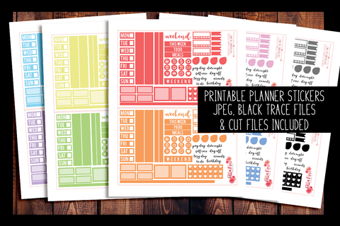 Hobonichi Weeks Rainbow Sampler Kit Planner Stickers | PRINTABLE PLANNER STICKERS
