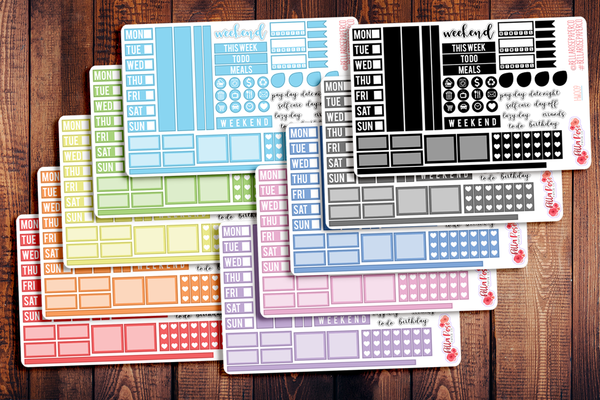 Hobonichi Weeks Sampler Kit Planner Stickers