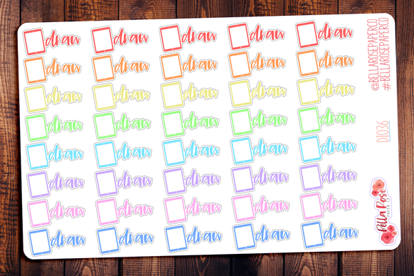 Ipad Draw Lettering Planner Stickers DI036