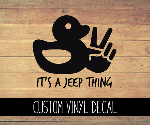 Jeep Duck Vinyl Decal