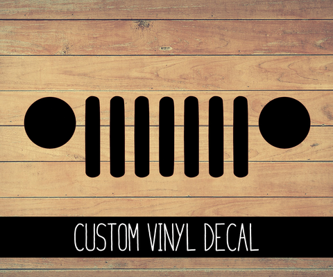 Jeep Grill Vinyl Decal