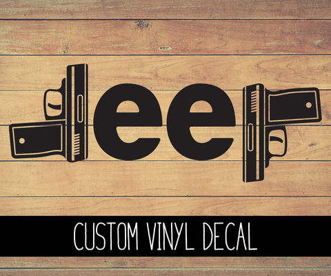 Jeep Guns Vinyl Decal