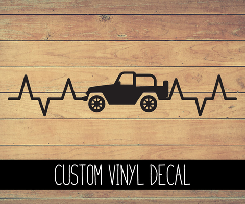 Jeep Heartbeat Vinyl Decal