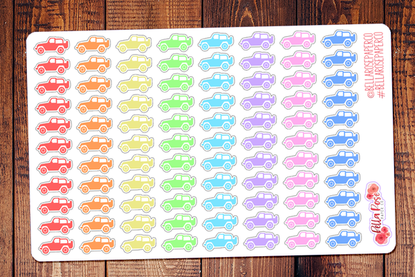 Jeep Planner Stickers DI015