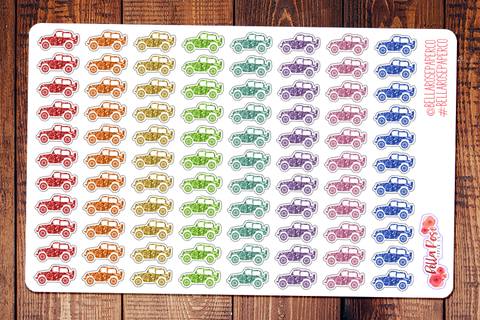Glitter Jeep Planner Stickers DI014