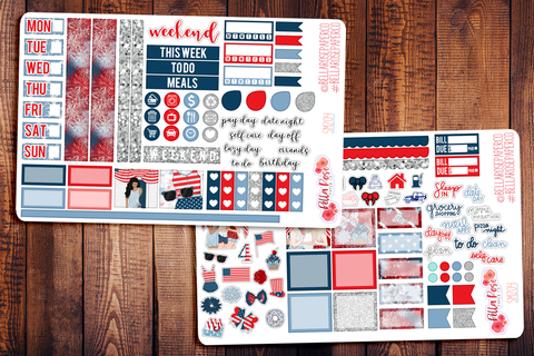 4th Of July Hobonichi Weeks Sticker Kit SM204