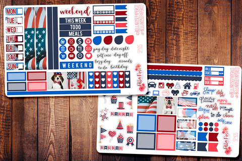 4th Of July Photo Hobonichi Weeks Sticker Kit SP405