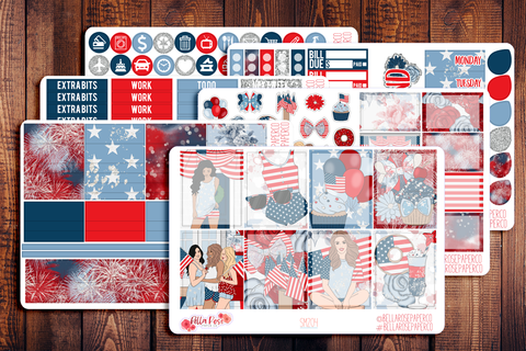 4th Of July Planner Sticker Kit SM204