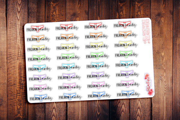 Freakin' Laundry Planner Stickers DI017