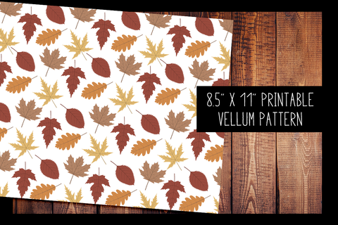 Autumn Leaves Vellum | PRINTABLE VELLUM PATTERN