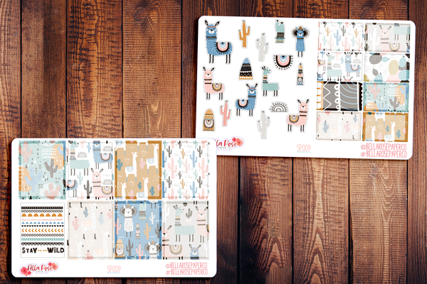 Stay Wild Llama Planner Sticker Kit SP009