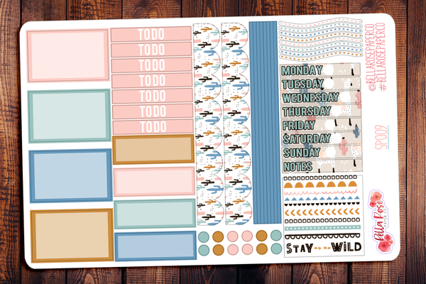 Stay Wild Llama Mini Happy Planner Sticker Kit SP009