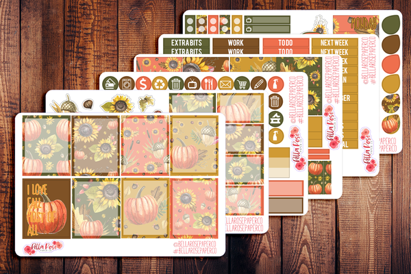 Love Fall Most of All Planner Sticker Kit F014