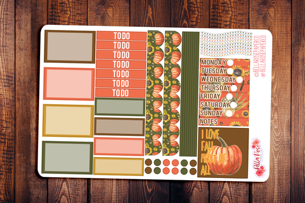 Love Fall Most of All Mini Happy Planner Sticker Kit F014