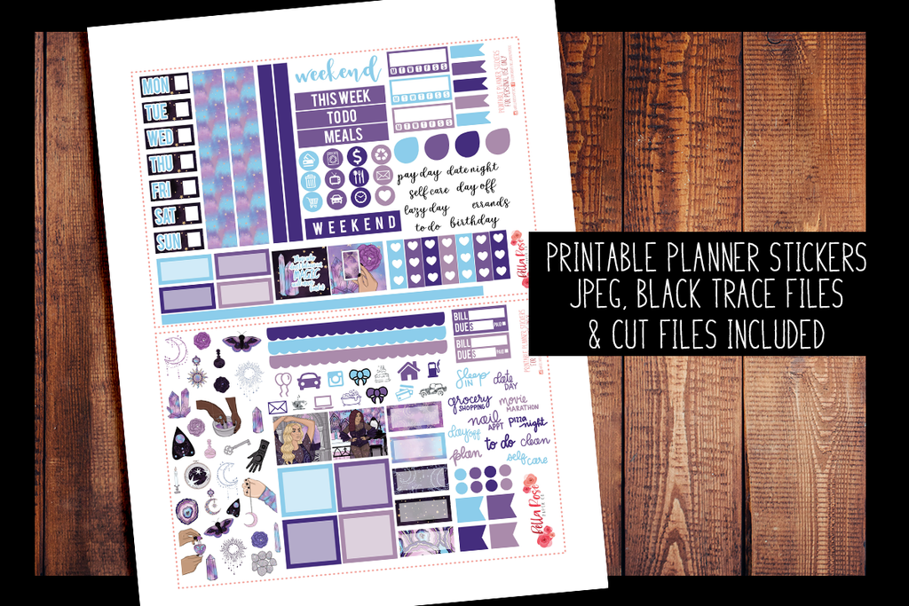 Believe in Magic Hobonichi Weeks Kit | PRINTABLE PLANNER STICKERS