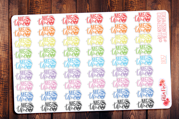 Face Mask Me Time Planner Stickers DI057