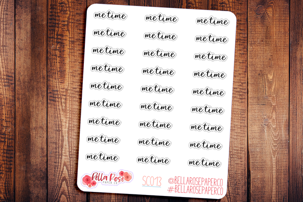 Me Time Planner Stickers SC013