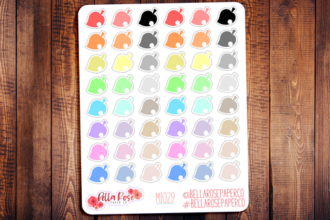 Animal Crossing Mini Icon Planner Stickers MI029